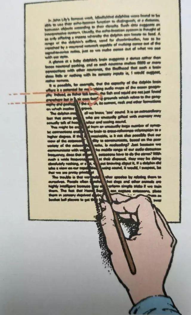 步骤3:引导眼睛,使用签字笔,铅笔,筷子等引导物